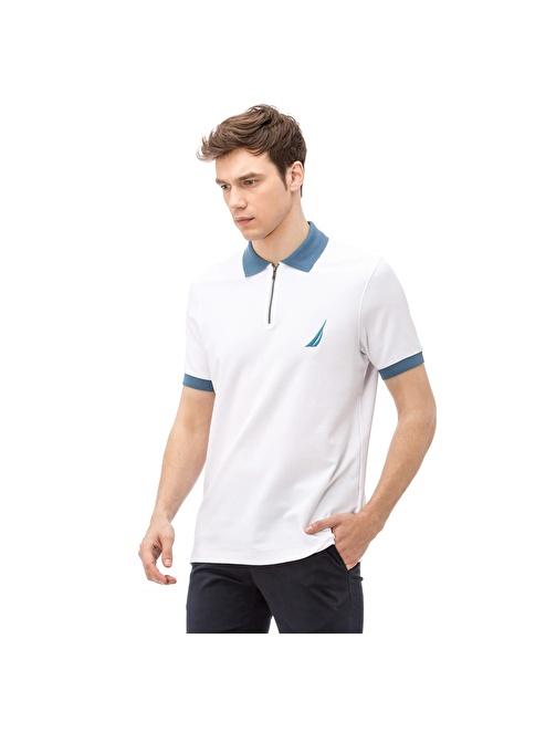 Nautica Polo Yaka Tişört Beyaz